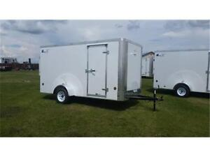 6 x 12 ENCLOSED CARGO TRAILER - 2970 GVWR - TAX IN $4,082.00