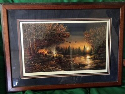 Terry Redlin framed, matted Evening Solitude Picture