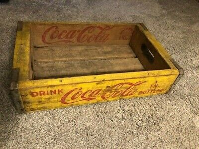 Vintage Coca Cola Crate Yellow Chattanooga 1967