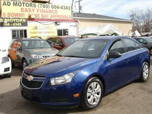 2012 CHEVROLET CRUZE LOADED LOW KMS 48K-100% APPROVED FINANCING!