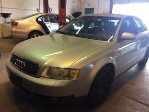 2002 AUDI A4 1.8T silver/ black leather, power group, sunroof!!