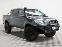 2013 Toyota Hilux KUN26R MY12 SR5 (4x4) Grey 5 Speed Manual Dual Cab Pick-up Atwell Cockburn Area Preview