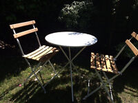 HABITAT White Folding Bistro Table & 2 Chairs