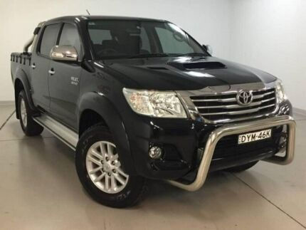 2014 Toyota Hilux KUN26R MY14 SR5 Double Cab Black 5 Speed Manual Utility Chatswood Willoughby Area Preview
