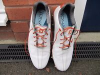 Footjoy DNA Shoes uk 7.5 (White/Orange) used condition.