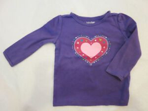 Baby Gap Heart Long-Sleeves Shirt (Girl 12 - 18 Months)