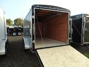 7x14 Black Enclosed Cargo Trailer with Ramp Kitchener / Waterloo Kitchener Area image 7