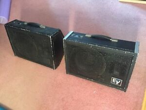Electrovoice (EV) FM12-2 floor wedge monitors