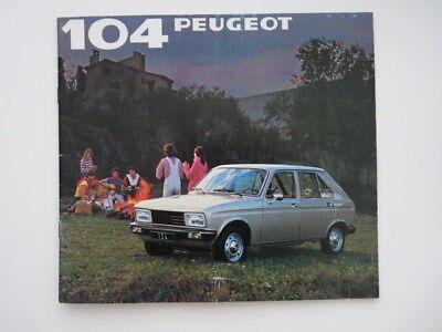 Brochure Peugeot 104  1981 (N) !