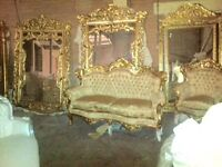 Fabulous large gold French style mirror