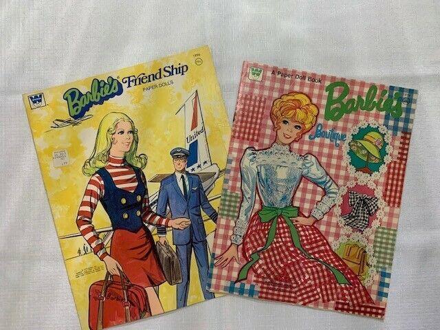Vintage Barbie Paper Dolls Partial