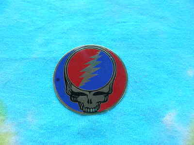 Grateful Dead 1 inch Steal Your Face SYF Metal Sticker