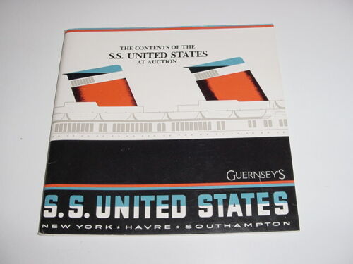 SS UNITED STATES LINES  1984 SSUS at Auction Catalog  /  Top Condition