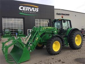 2017 John Deere 6155M w/ Loader & Grapple only 490 Hours