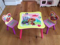 Paw Patrol Table & Chair Set