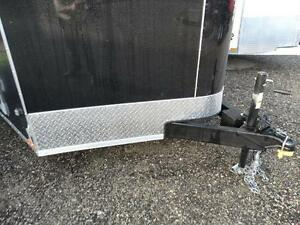 7x14 Black Enclosed Cargo Trailer with Ramp Kitchener / Waterloo Kitchener Area image 4