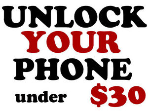 ANY CELLPHONE UNLOCKING $35 & UNDER - except iPhones**