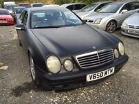 Mercedes CLK 200 automatic, starts and drives, car located in Gravesend Kent, being sold as spares o