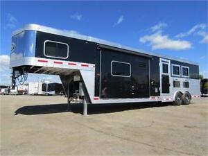 SIERRA 8 WIDE 3 HORSE LQ WITH 9' SLIDE OUT AND 13' SHORTWALL