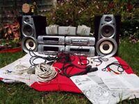 Technics SC-DV290 DVD Stereo System 5 DVD CD Changer Surround Sound