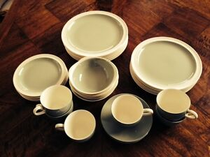WEDGWOOD, CELADON/WHITE DINNER SET, VINTAGE Valentine Lake Macquarie Area Preview