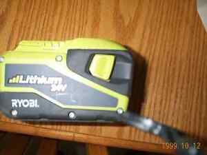 Ryobi 24 volt lithium 57.72 battery and charger