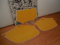 """XR250R """"N-STYLE"""" PRECUT YELLOW NUMBER BACKGROUNDS (1996-2004)"""