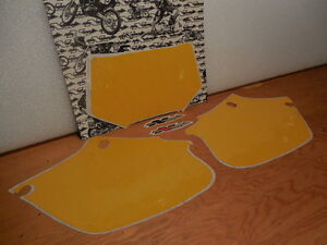 "XR250R ""N-STYLE"" PRECUT YELLOW NUMBER BACKGROUNDS (1996-2004)"