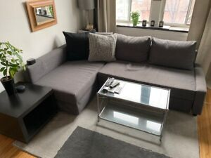 "In Good shape ""FRIHETEN"" corner sofa bed couch with Storage!"