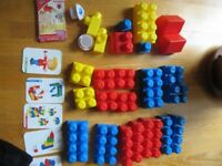 80 Mega Bloks Blocks with special rare pieces and original bag – Great used condition