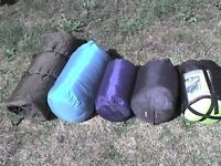5 Adult Sleeping Bags The Green One is FREE - Heathrow