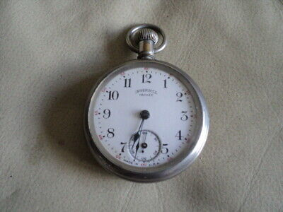 VINTAGE INGERSOLL YANKEE POCKET WATCH MADE IN USA NOT WORKING FOR REPAIR /PARTS