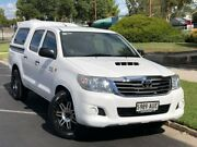 2012 Toyota Hilux KUN16R MY12 SR Double Cab 4x2 White 5 Speed Manual Utility Prospect Prospect Area Preview