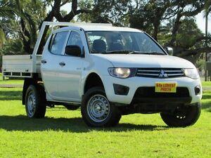 2012 Mitsubishi Triton MN MY12 GLX Double Cab White 5 Speed Manual Utility Hendon Charles Sturt Area Preview