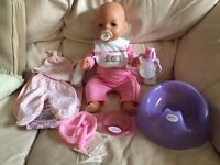 Baby Born Doll by Zapf Creation with accessories