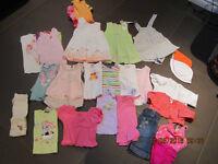 Lot de vêtemets bébé fille été