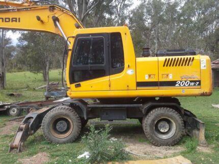 20 ton hyundai wheeled excavator Branxton Singleton Area Preview