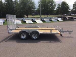 "NEW 2019 K-TRAIL 72"" x 12' GALVANIZED TANDEM UTILITY TRAILER"