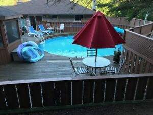 Decking and pool fence ....FREE