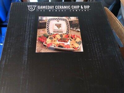 West Virginia Gameday Ceramic Chip and Dip Platter  Game Day Ceramic Chip