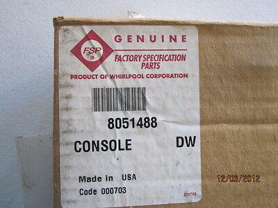 WHIRLPOOL FSP WHITE DISHWASHER CONSOLE 8051488 HUGE BANK SALE LIST $114.58