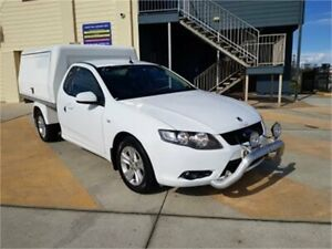 2009 Ford Falcon FG R6 White 5 Speed Auto Seq Sportshift Cab Chassis Cleveland Redland Area Preview