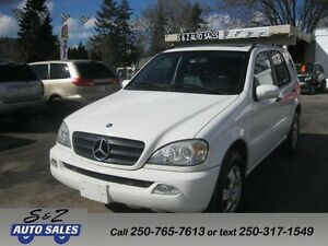 2004 Mercedes Benz ML-350 4Matic ONLY 109000 km! GARAGE KEPT!