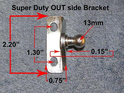 Right Angle Stud - Right Angle 13mm Stud EXTRA Heavy Duty Bracket Strut OUT-Side Mount RV Tear drop
