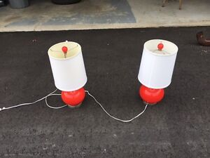 Red Table Lamps for sale