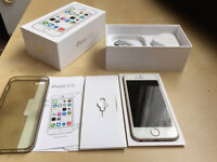 iPhone 5S 64GB UNLOCKED to all networks with box, charger, glass and case
