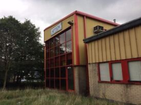 MANUFACTURING/WAREHOUSE WITH OFFICES TO LET ON CARRS INDUSTRIAL ESTATE HASLINGDEN LANCASHIRE