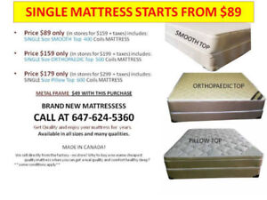 MATTRESS AND BOX SALE ALL SIZES START FROM $149 ONLY