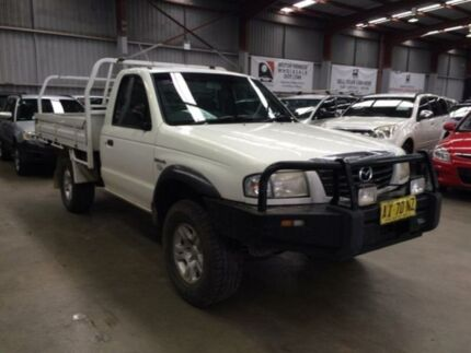 2006 Mazda B2500 MY05 Upgrade Bravo DX (4x4) White 5 Speed Manual Cab Chassis Macquarie Hills Lake Macquarie Area Preview