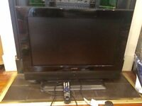 "Hitachi 26"" television & remote"